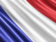 French flag background, 3D rendering